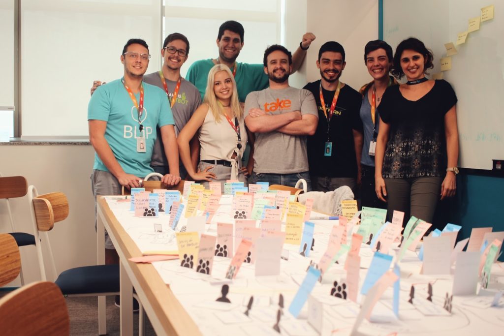 business origami equipe take blip