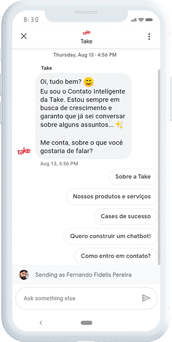 chatbot para Google Business Messages